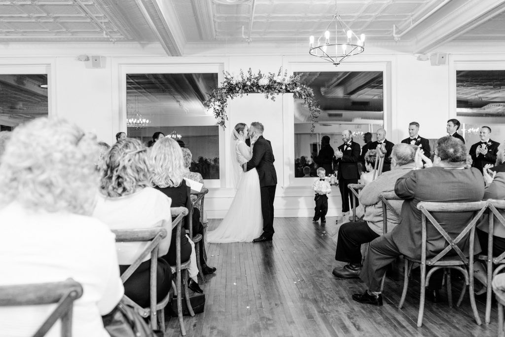 Wedding Ceremony at Upper East in Kenosha, WI by Greatest Story Photography